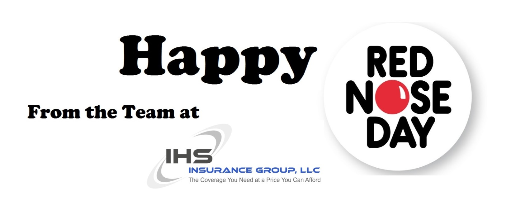 Happy Red Nose Day from IHS Insurance Group