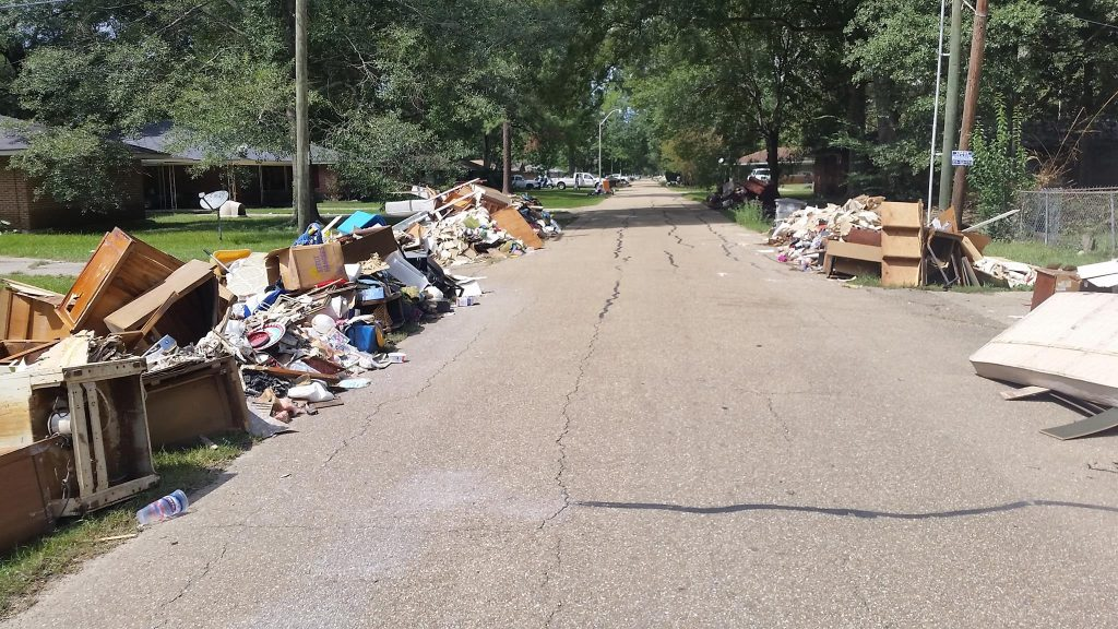 street view of BRLA flood devastation