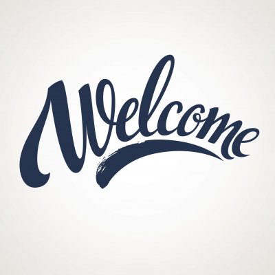 Welcome lettering. Vector illustration